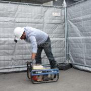 Bâche acoustique d'insonorisation sur chantier
