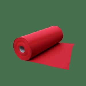 Tapis Moquette rouge de cheminement pour chantiers anti dérapant et très visible.