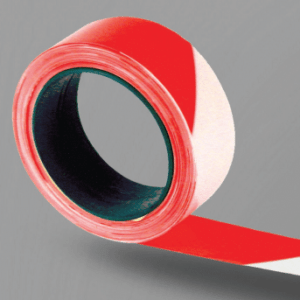 ruban de signalisation rouge et blanc pour chantier